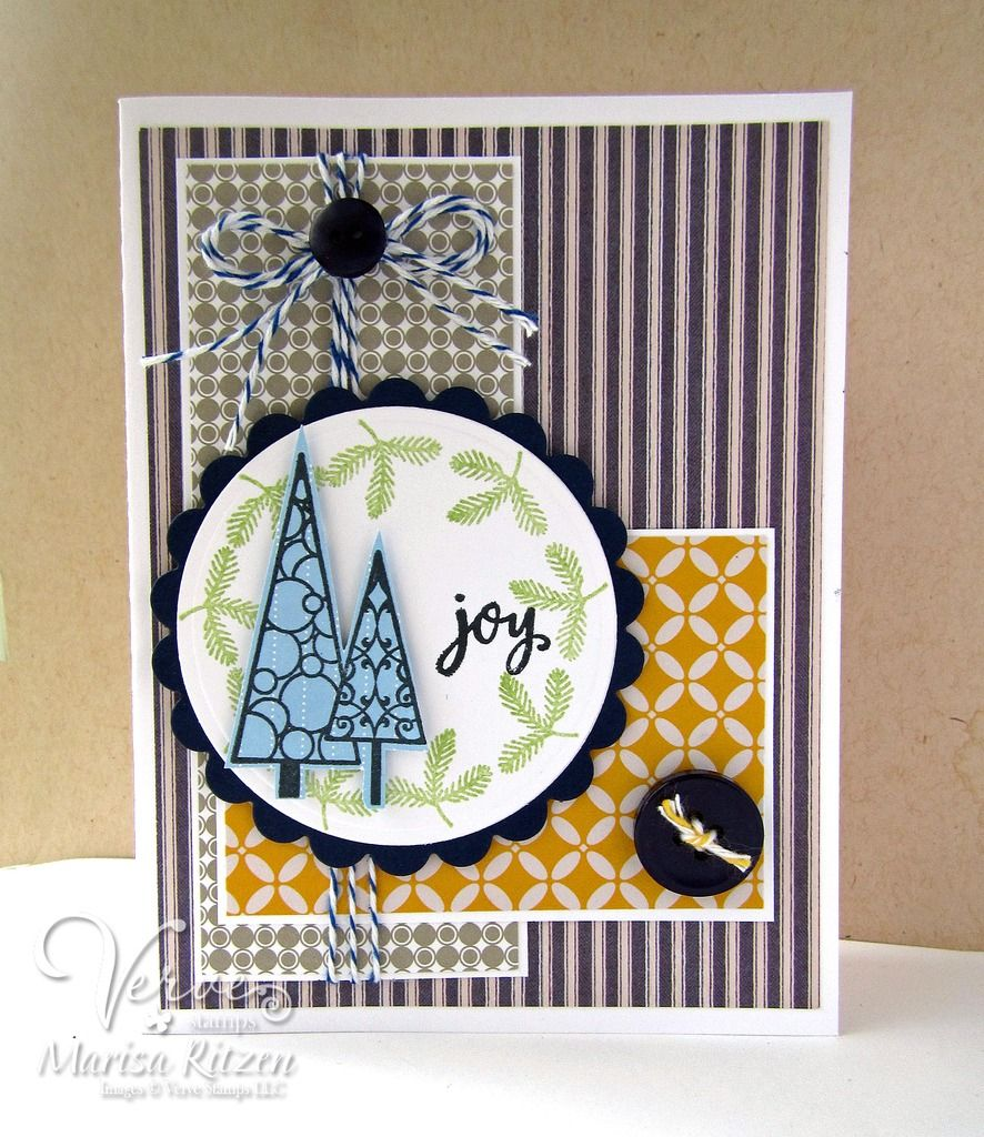 Handmade card by Marisa Ritzen featuring the Jolly Jingles and Beyond Measure stamp sets from Verve. #vervestamps