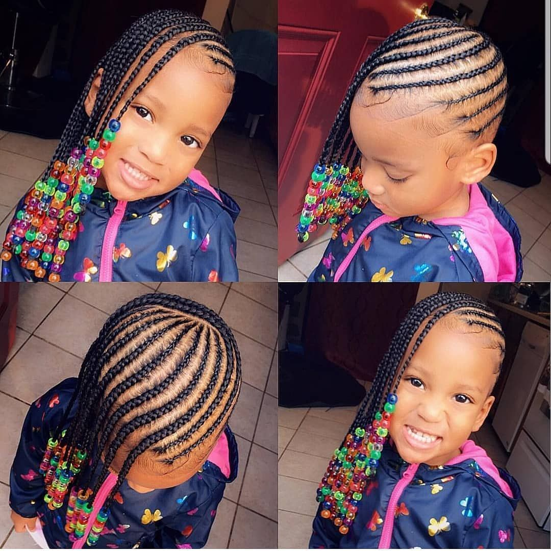 Braids Kids Hairstyles Beads Brown Girls Hair Tybaby333 Follow Kissegirl Hair Skin And Nails B Kids Hairstyles Braids For Kids Baby Girl Hairstyles