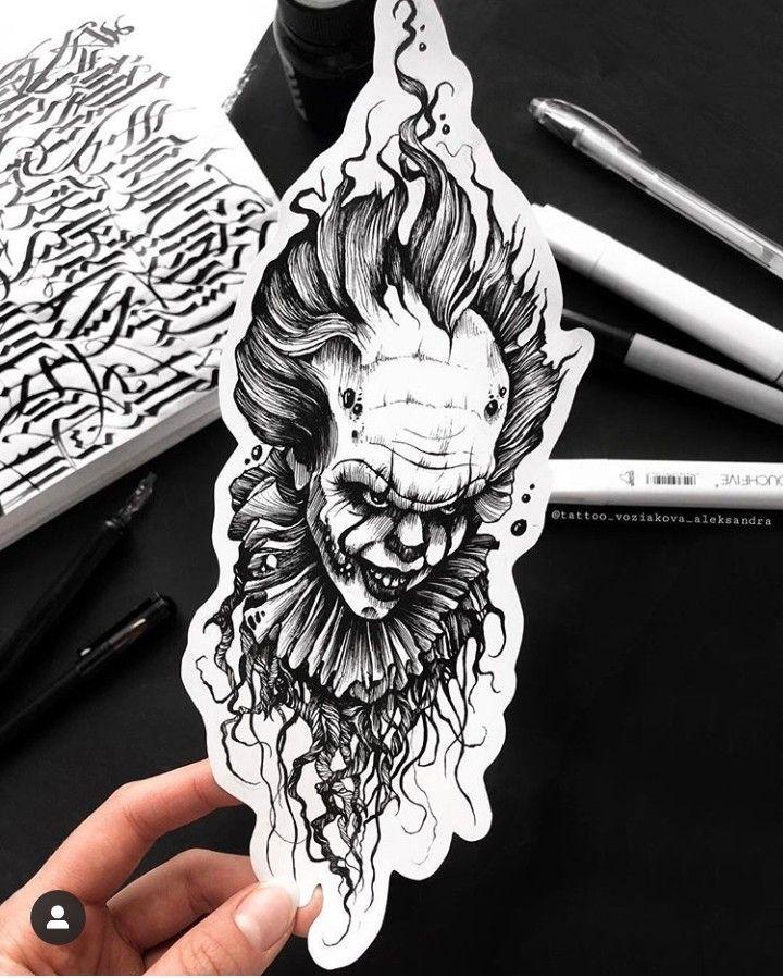 It El Payaso Tattoo Diseno Movie Tattoos Tattoos Tattoo Design Drawings