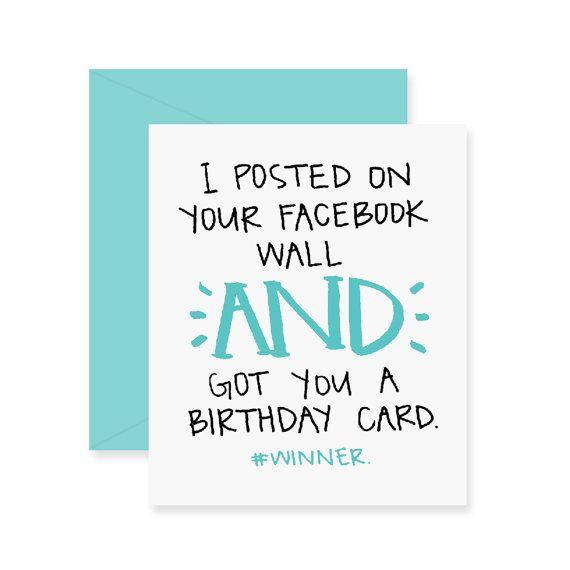 Facebook Birthday Card Funny Greeting Card Happy Birthday