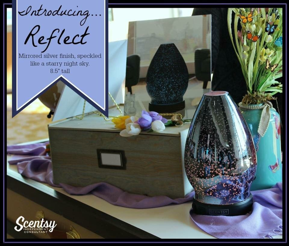 Scentsy's Reflect Essential Oil Diffuser New for spring and summer 2016 #scentsbykris