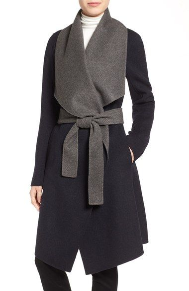 DIANE VON FURSTENBERG Reversible Double Face Wrap Coat. #dianevonfurstenberg #cloth #