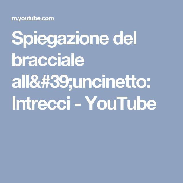 Spiegazione del bracciale all'uncinetto: Intrecci - YouTube