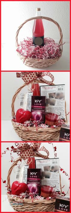 A Day In Candiland Create A Romantic Date Night Gift Basket With Tutorial Http