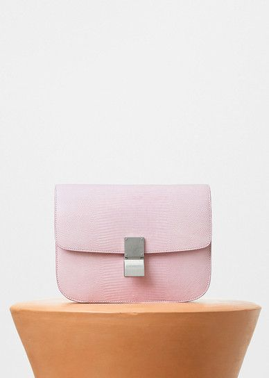 bd8bc0e00c59 Celine Pale Pink Lizard Medium Classic Box Bag