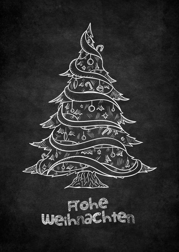 Schwarze Weihnachten | Frohe Weihnachten | Echte Postkarten online ...