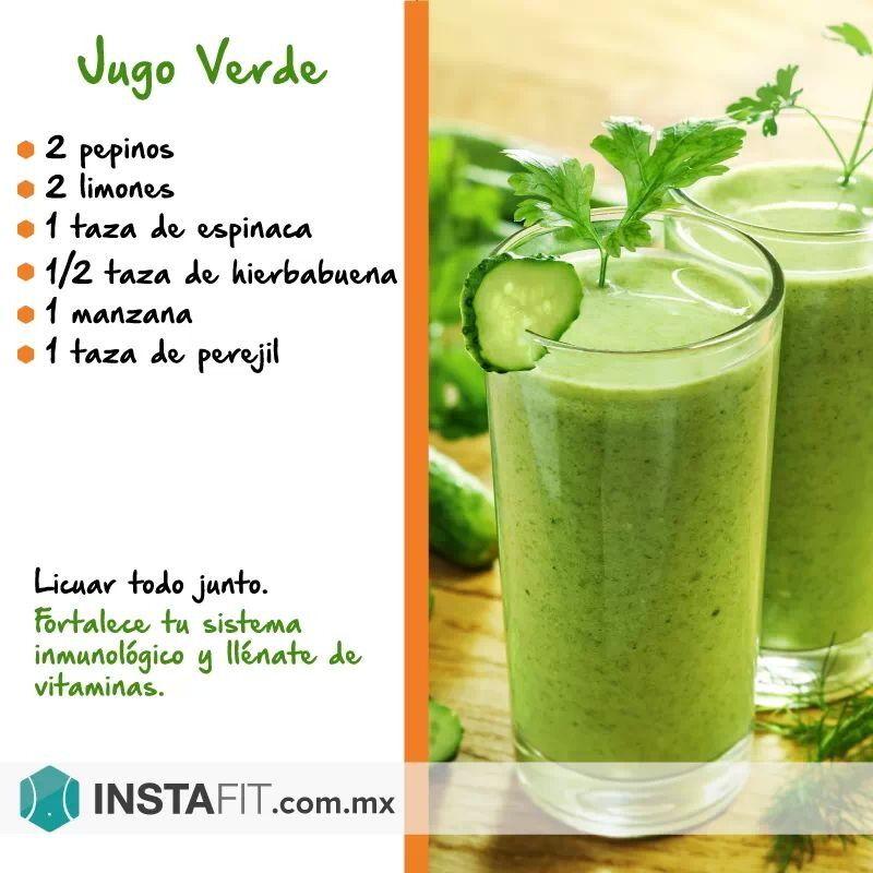 Ingredientes de jugo verde para bajar de peso