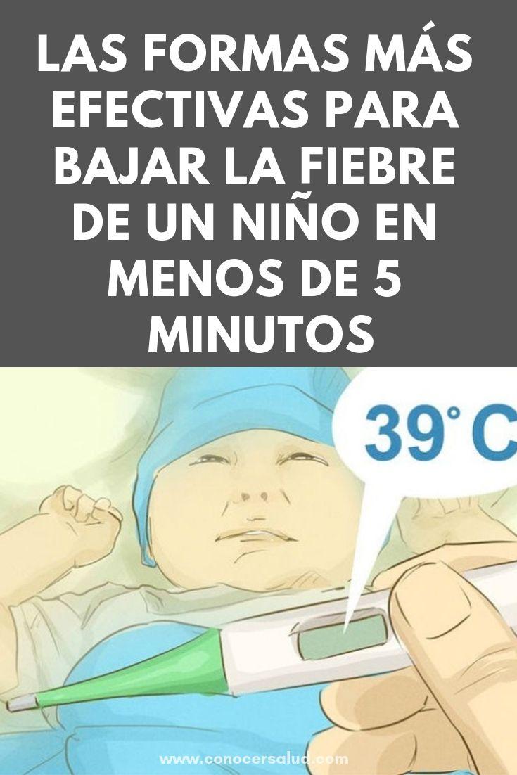 como bajar la fiebre de un niño inmediatamente
