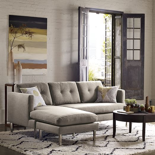 Jackson 2 Piece Chaise Sectional West Elm Home Living Room