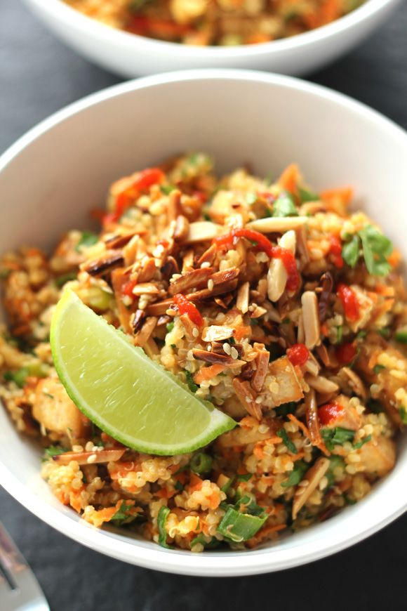 Thai Tofu Quinoa Bowls Whole Food Recipes Vegetarian Dishes Vegetarian Recipes