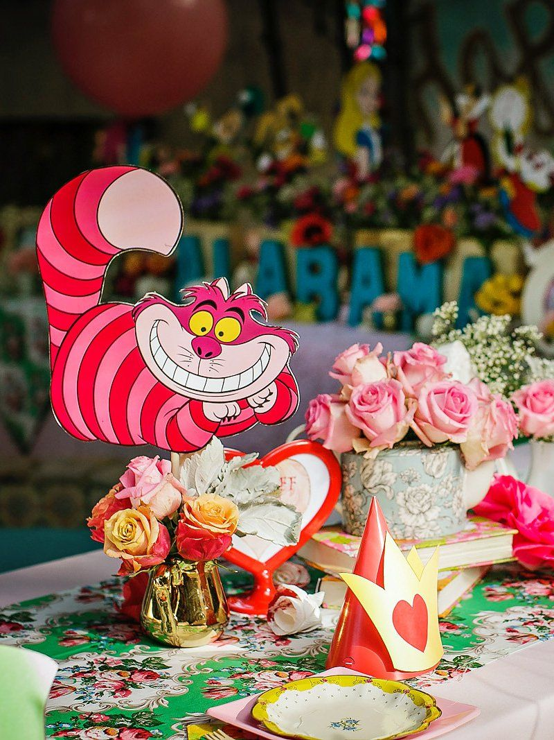 Alice in wonderland birthday party whimsy fantasy