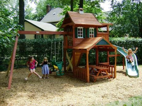 Diy Playset Plans For Children In 2020 Backyard