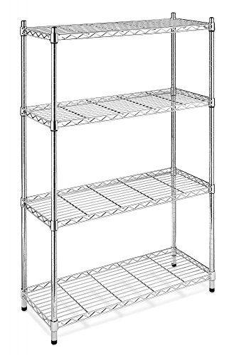 Chrome Storage Rack 4Tier Organizer Kitchen Shelving Steel Wire ...