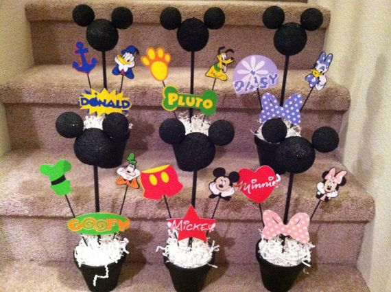 Birthday party ideas · Personalized+Mickey+Mouse+Clubhouse +centerpiece+by+ACraftCreation+$6.00 & Sesame Street birthday door sign the party is here | Mickey mouse ...
