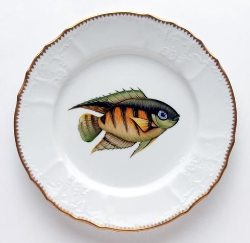 Antique Fish 9.5 In Dinner Plate No. 10 | Gracious Style