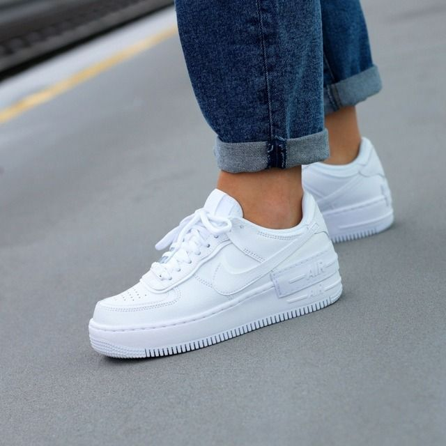 Nike Air Force 1 Shadow In 2020 White Nike Shoes Nike Air Shoes Nike Air Force 1 Outfit Nike air force 1 shadow trainers white mono. pinterest