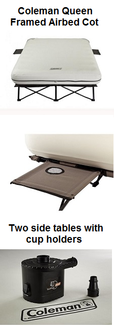 Coleman Framed Queen Airbed Cot Folding with air mattress