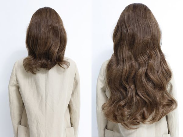 Before after clip in hair extensions 22inch 1 salon pinterest hair extensions give you a new look in a snap tape in hair extensions real human hair extensions human hair extensions brown hair extensions pmusecretfo Image collections