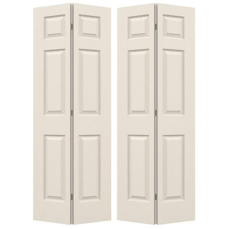 Jeld Wen Colonist Primed 6 Panel Molded Composite Bifold Door Hardware Included Common 48 In X 80 In Actual 48 In X In 2020 Bifold Door Hardware Closet Doors Panel Moulding