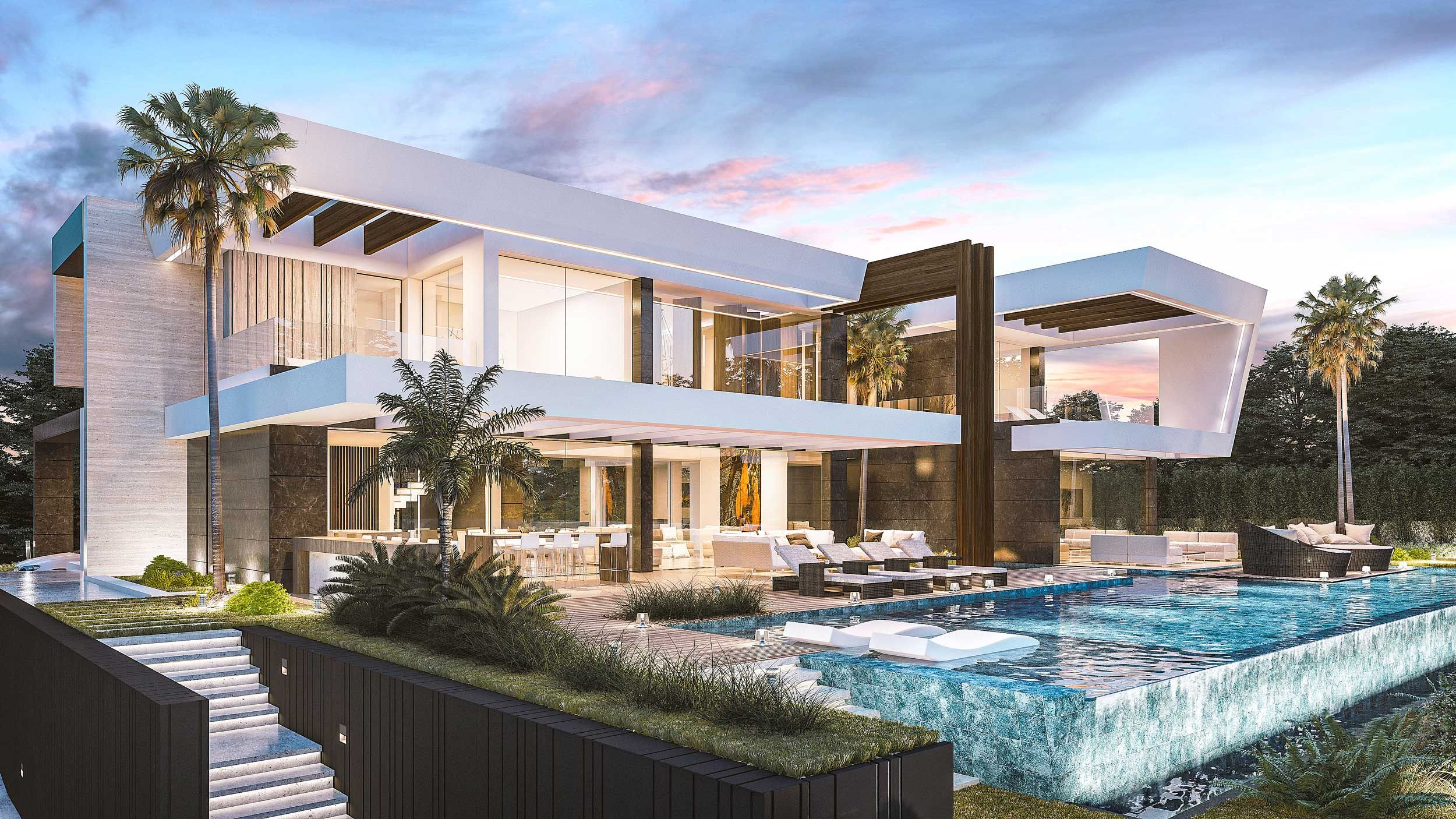 We Continue To Add Incredible Projects To Our Portfolio This Luxury Villa Has Been Designed Luxury Modern Homes Luxury Homes Dream Houses Dream House Exterior