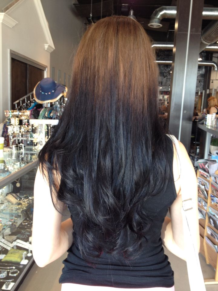 Reverse Ombre Brown And Black Hair By Heidi At Hairtique Salon In