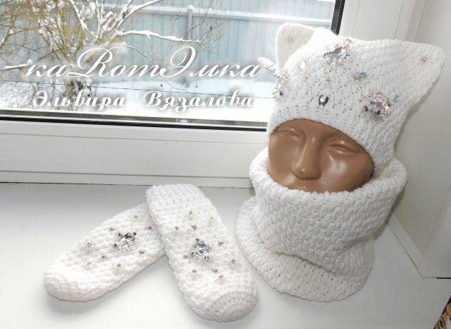 Ультра модные в этом сезоне котошапки с авторской вышивкой от мастерицы Эльвиры Вязаловой.