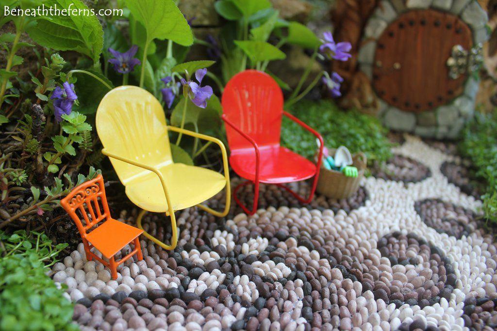 Fairy garden lawn chairs Fairy house miniatures a by Beneaththeferns on DeviantArt