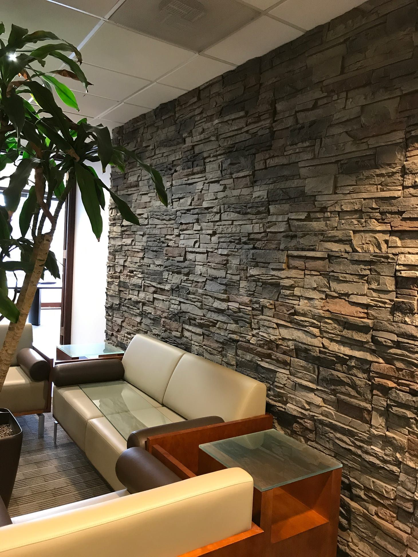 Stacked Stone Kenai Genstone Usa And Canada Stone Walls Interior Stone Wall Living Room Stacked Stone Walls