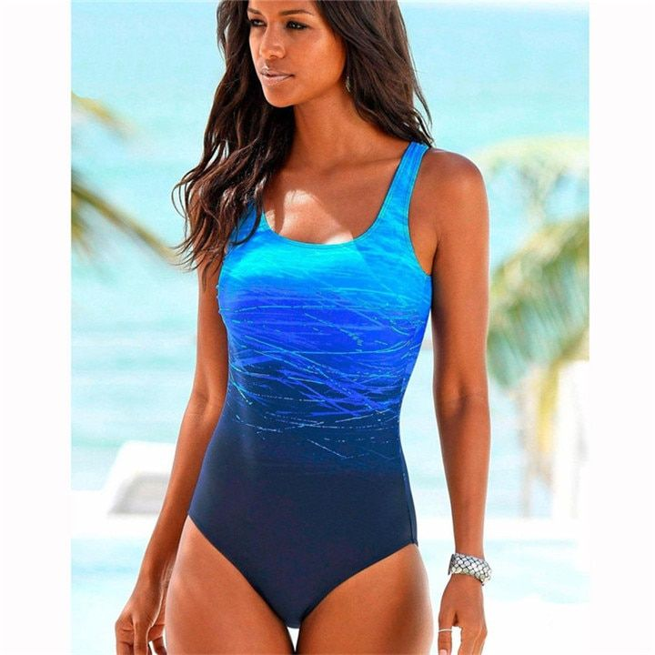 Photo of Large Size 2019 Sexy One Piece Swimsuit Female Women Vintage Swimwear High Neck Bandage Criss Cross Back Monokini Xxl
