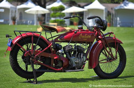 Indian Scout - Not Sure of the Vintage, but They Stopped Making Indian Motorcycles in the 1950's