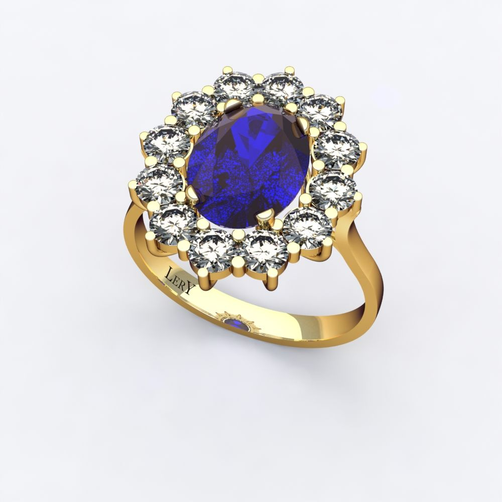 bague or jaune marguerite