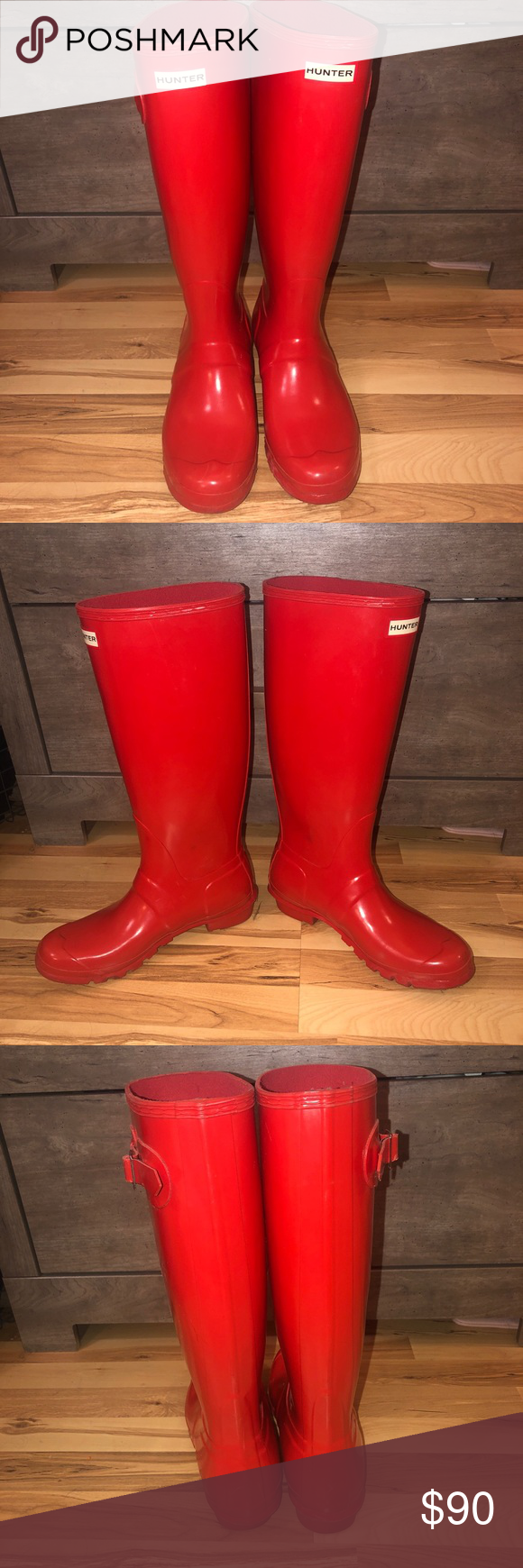 Red HUNTER boots Barely worn red hunter boots Hunter Shoes Winter & Rain Boots