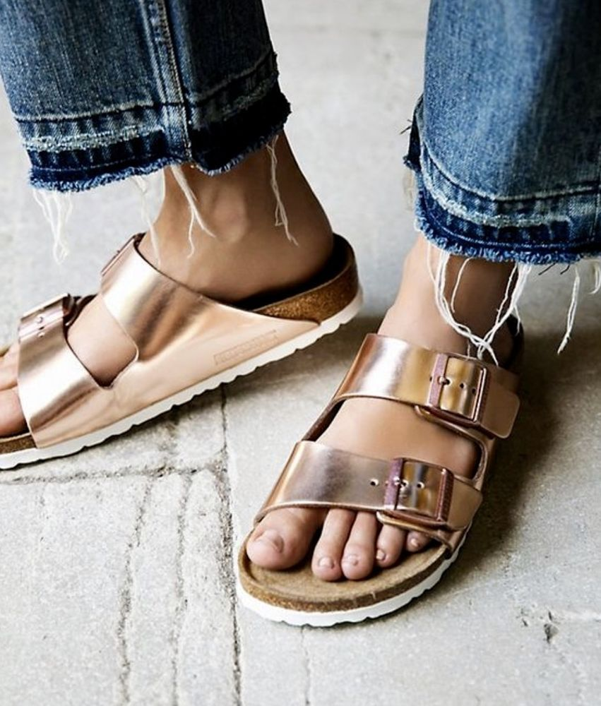 388c008d20c NEW Free People X Birkenstock copper Metallic Arizona Sandals 36   5-5.5   Birkenstock  Arizona  versatile