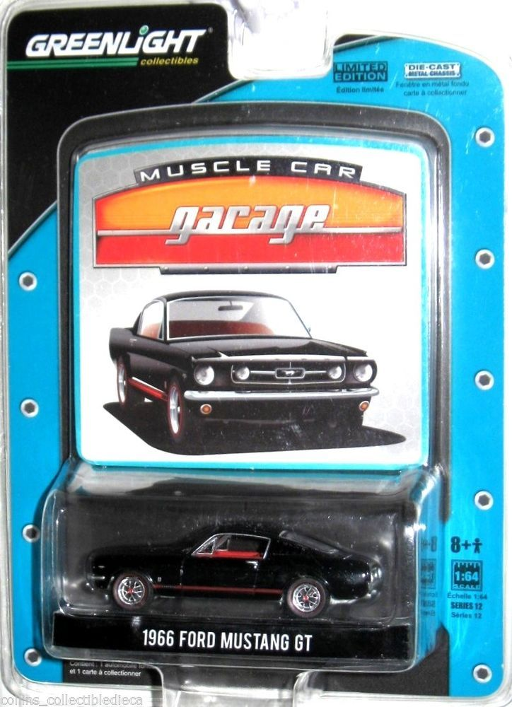 1966 Ford Mustang Gt Greenlight Muscle Car Garage Limited Edition