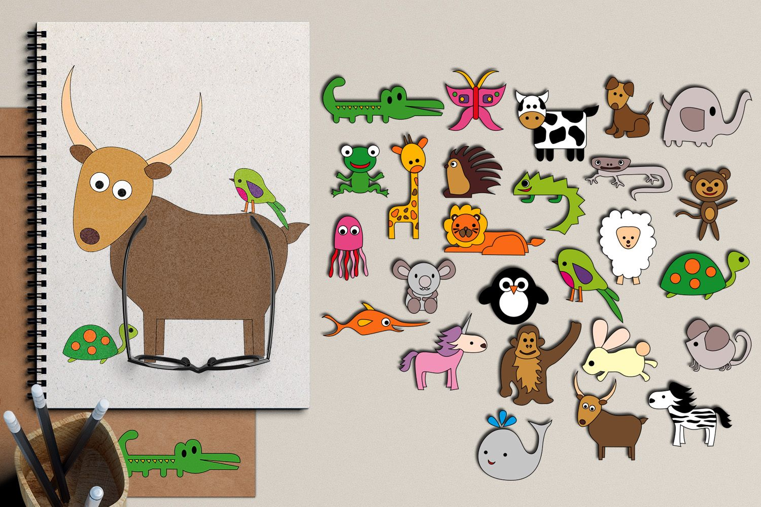 Alphabet Animals Graphic By Revidevi Creative Fabrica Alphabet Illustration Graphic Illustration Animal Graphic
