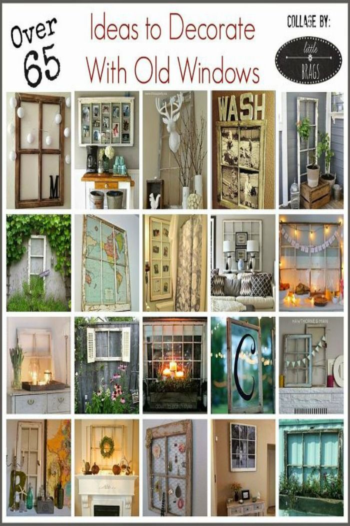 How To Decorate With Old Windows | Decorating, Window and Crafts