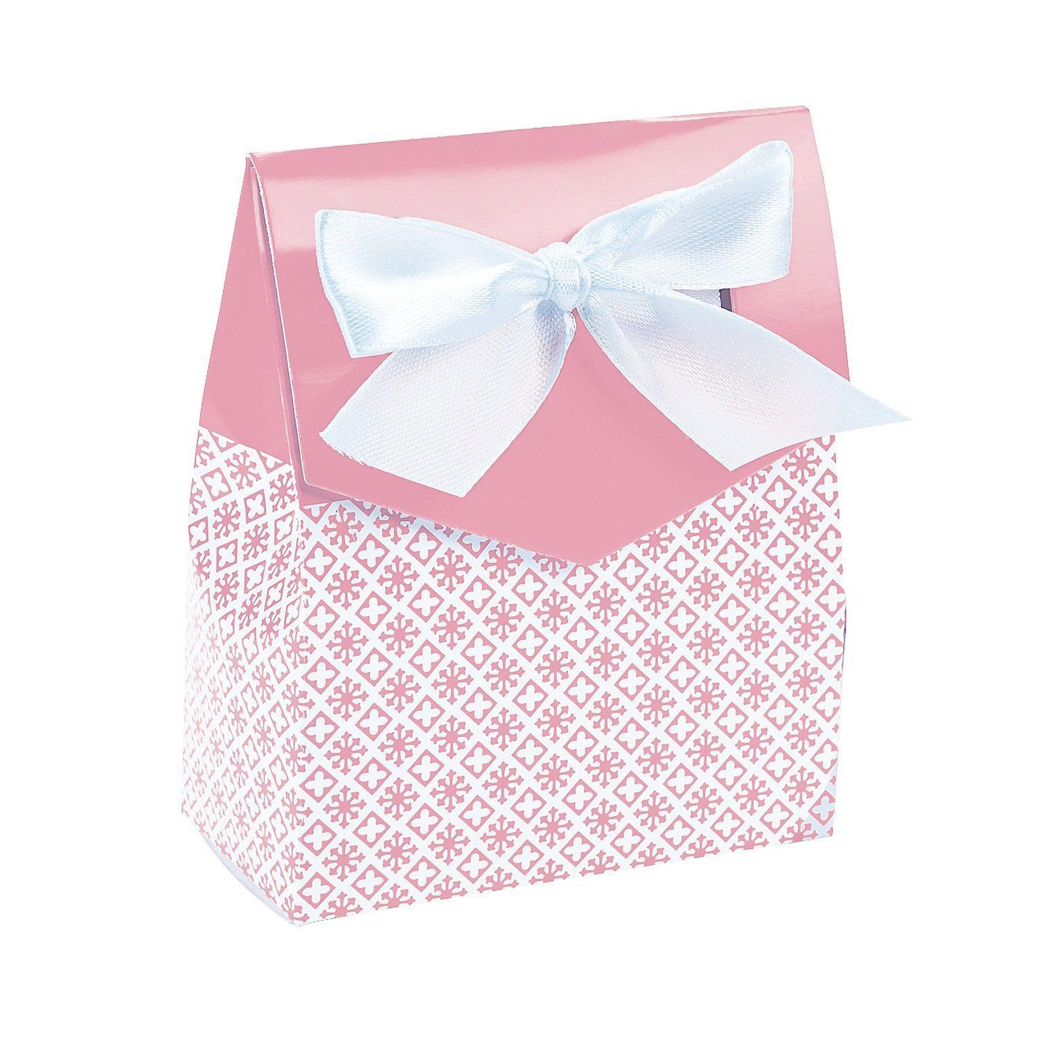 Light Pink Tent Favor Boxes with Bow >>> Find out more about the ...