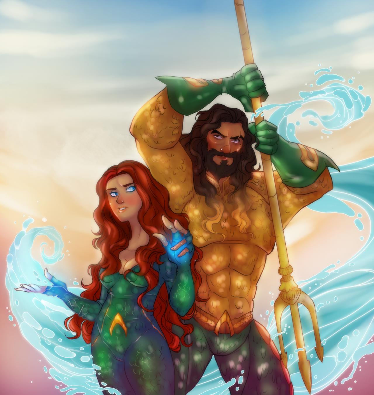 Aquaman Jason Momoa Mera Aquaman S Wifey Amber Heard: Aquaman Arthur Curry Mera Amber Heard Queen Mera Jason