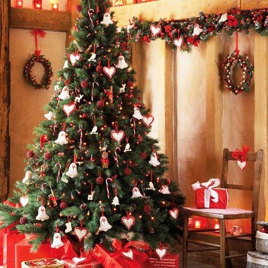 RBOL DE NAVIDAD DECORADO  rboles de Navidad  Pinterest