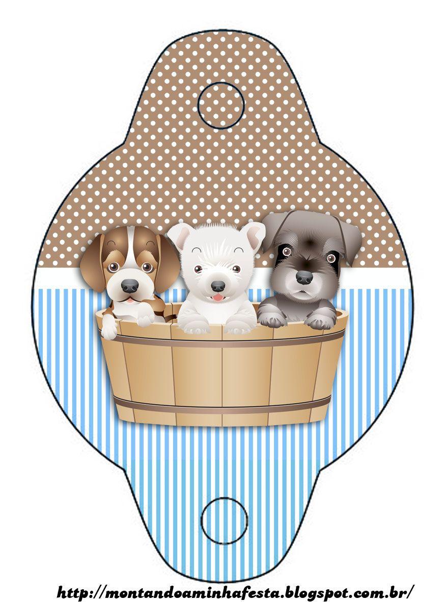 Montando minha festa: Cachorrinhos Marrom & Azul