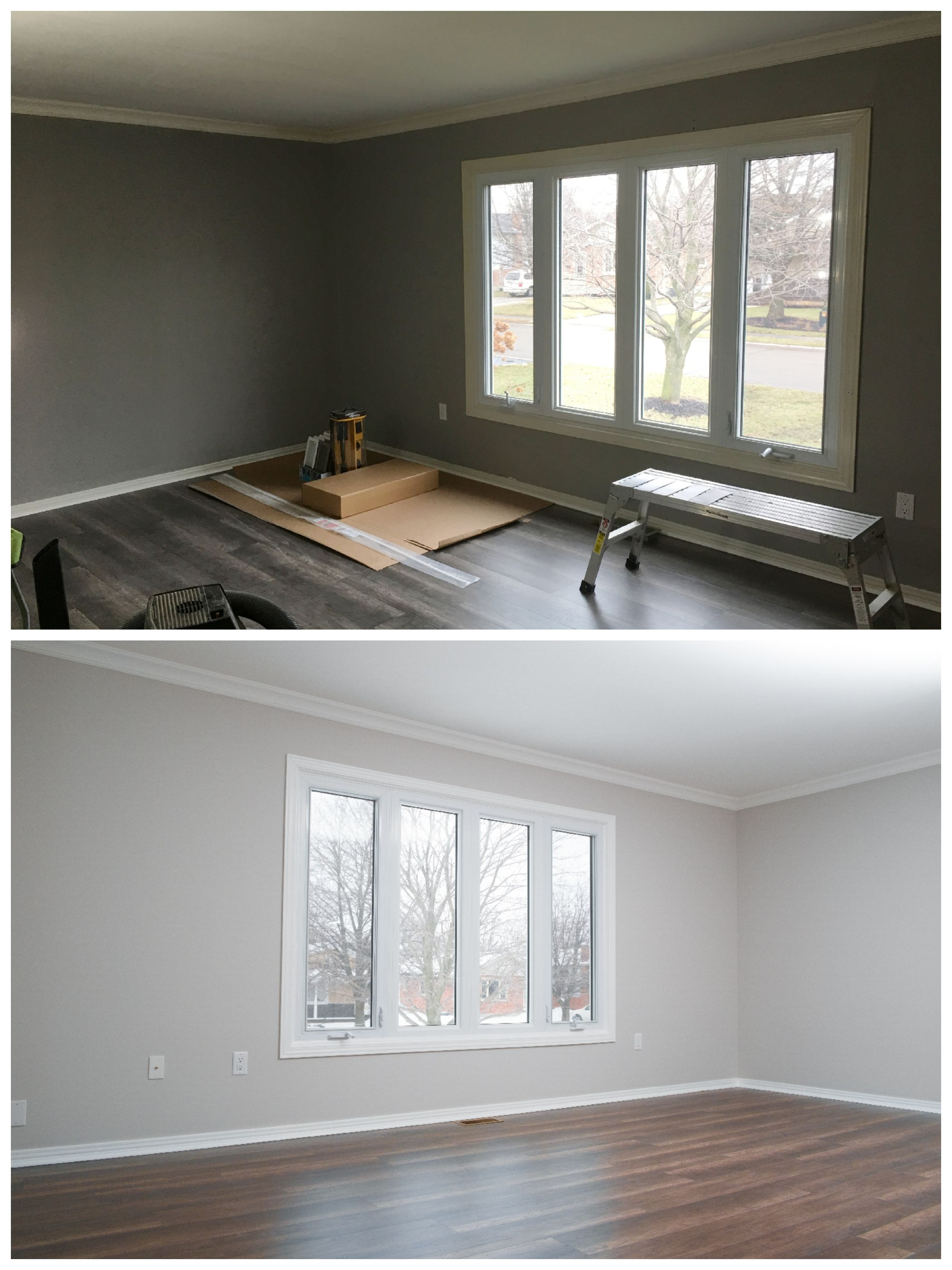 Pairing A Neutral Wall Colour With Clean White Trim And Ceiling Paint Opened This E Up Making It Ear Larger Colors Living Area