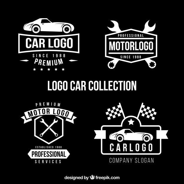 Download Set Of Four Car Logos In Flat Design For Free Flaches Design Auto Logo Logos