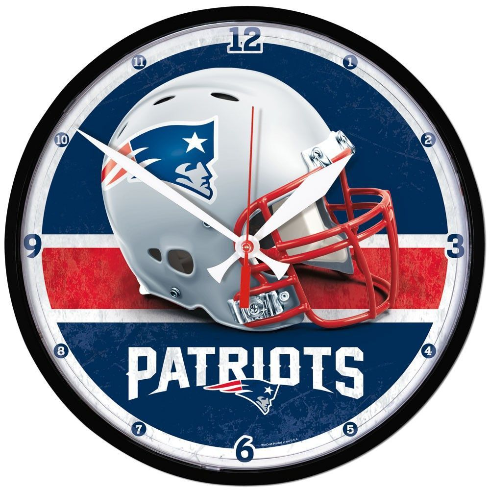 Nfl wall clocks gallery home wall decoration ideas patriots nfl wall clock 1275 patriots wall clocks and team logo patriots nfl wall clock 1275 amipublicfo Gallery