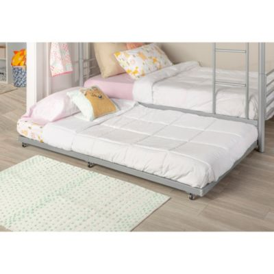 Twin Roll Out Trundle Bed Frame Silver Silver Trundle Bed