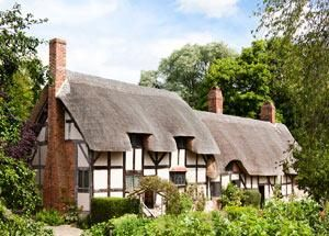 Low level tudor, still carries over the thatch roof from the previous level