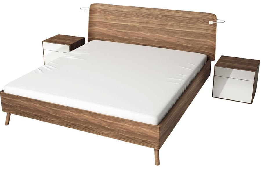 Ledikant lunis hoofdbord b hülsta slaapkamer lunis hout:kernnoten