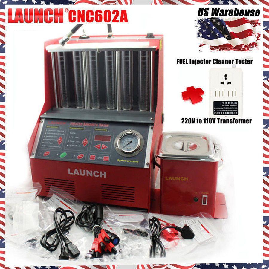 Launch Cnc602a Ultrasonic Fuel Injector Cleaner Tester 110v Short Circuit Detector Ect2000 Tester110v Transformer For Us Ebay Link