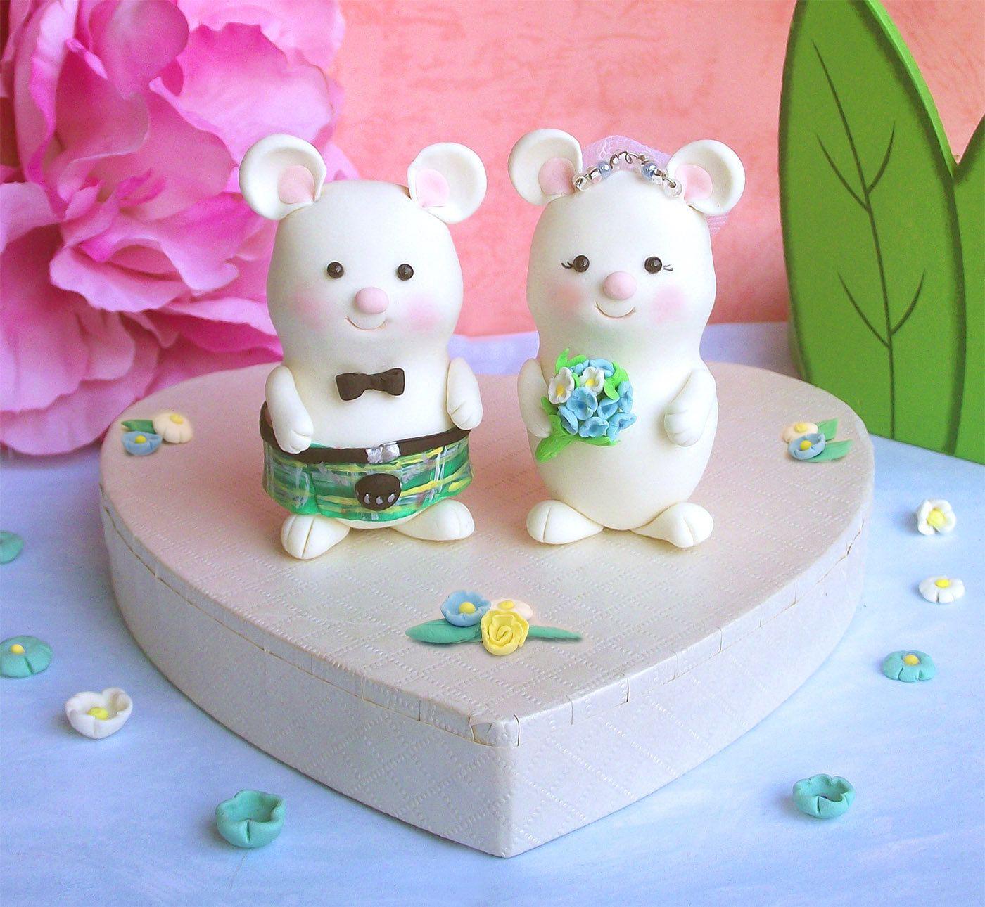 Scottish mice wedding cake toppers i just like it ok pinterest