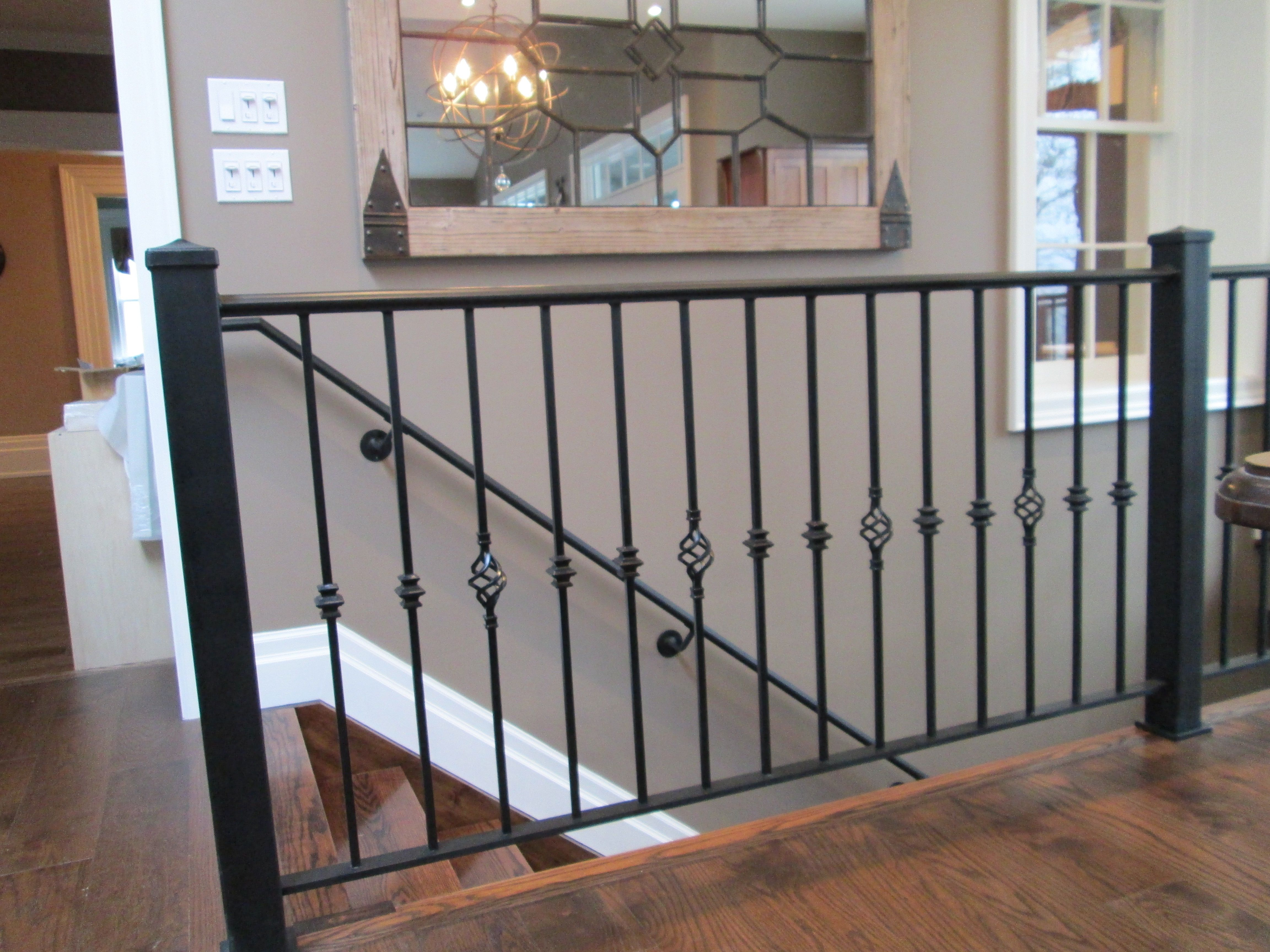 decorative railings. wrought iron railing with decorative collared pickets alternating a basket picket railings n