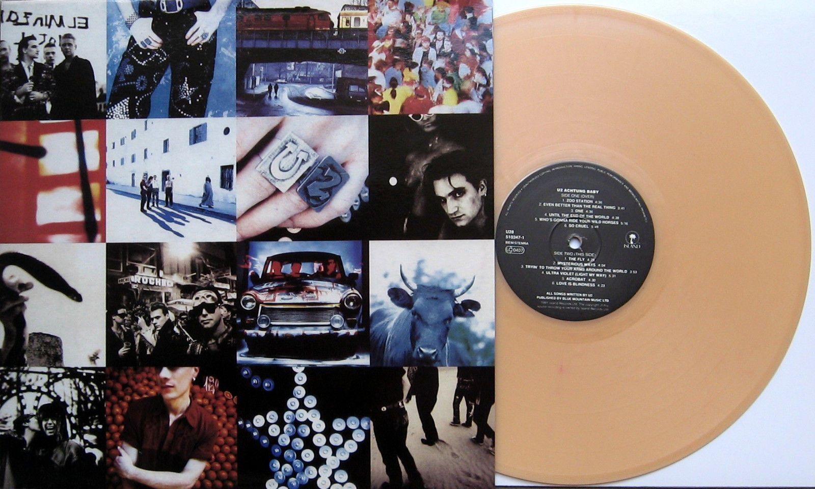 U2 Achtung Baby Beige Color Vinyl Lp Import 180 Gram Vinyl Vinyl Achtung Baby Color